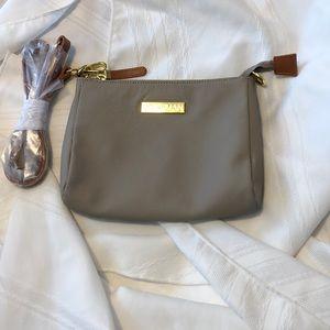 JOY & IMAN NEW taupe purse bag clutch straps